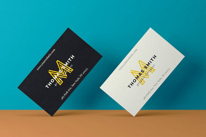Cover Image For Realistic Business Card Mock-Up #02