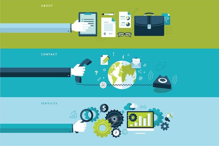 Thumbnail for Conjunto de Conceptos de Diseño Plano para Negocios