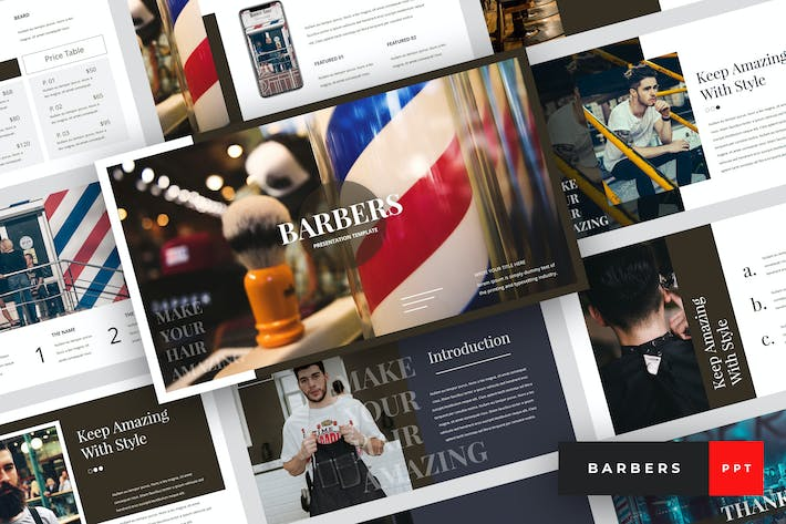 Barbers - Barbershop PowerPoint Template