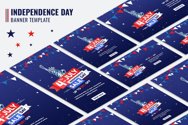 Thumbnail for Independence Day Sale Banners
