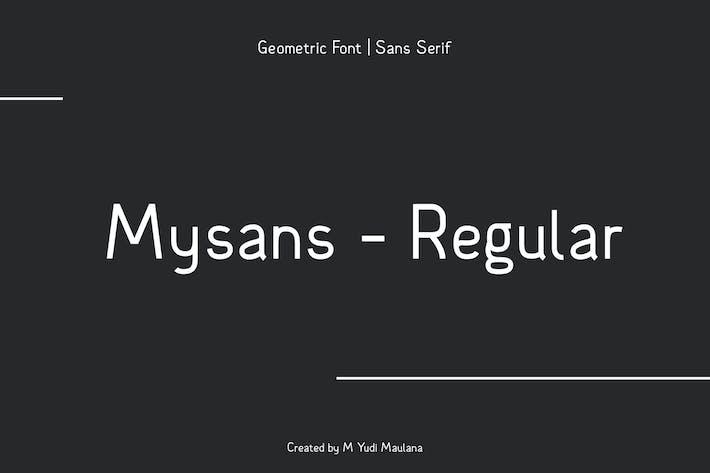 Thumbnail for Mysans M Sans Serif Font