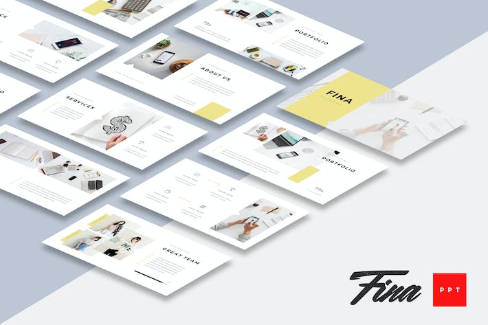 Thumbnail for Fina - Business Powerpoint Presentation Template