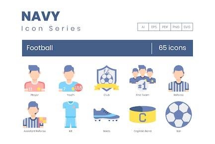 65 Fútbol (Fútbol) Íconos planos