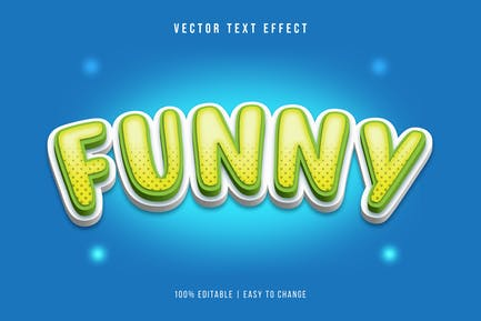 Cartoon Text Effect Curved