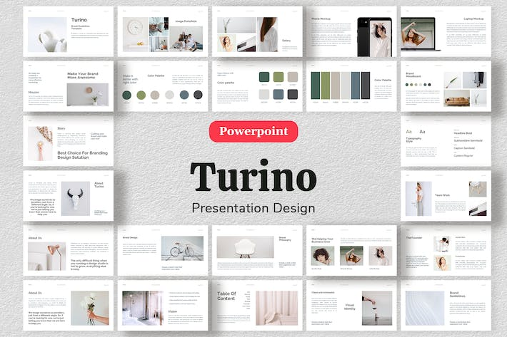 Thumbnail for Turino - Шаблон презентации брендинга Powerpoint