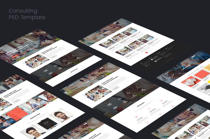 Consulting & Corporate PSD Template