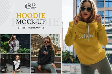 Hoodie Mock-Up Street Fashion vol.2