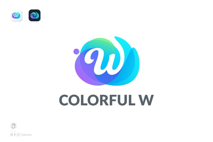 Thumbnail for Colorful W logo template
