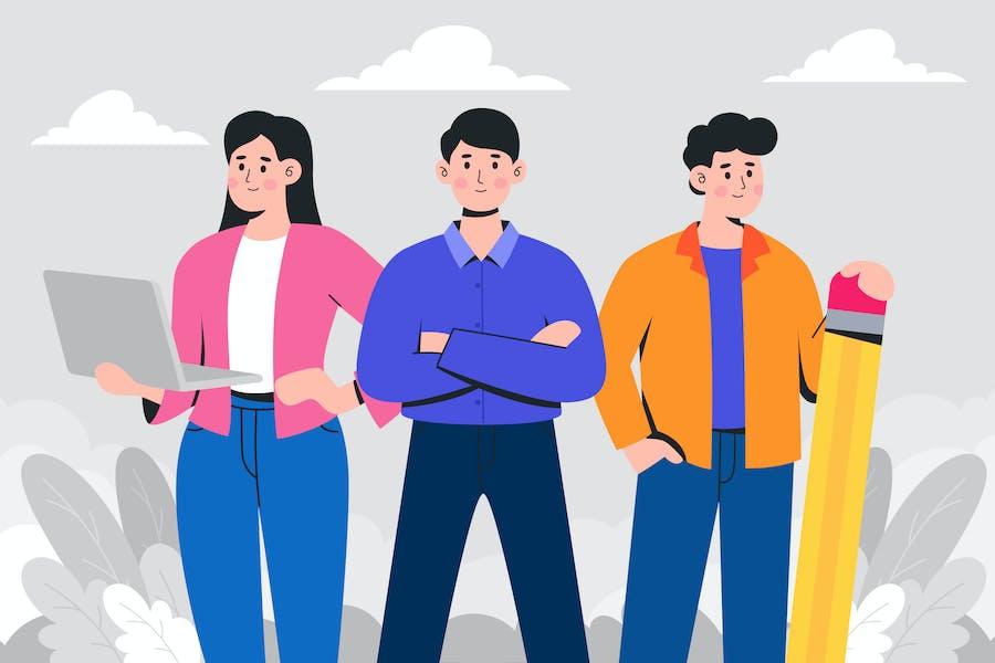 Иллюстрация нашей команды
