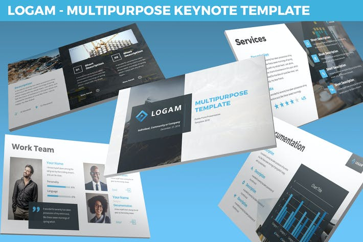 Thumbnail for Logam - Multipurpose Keynote Template