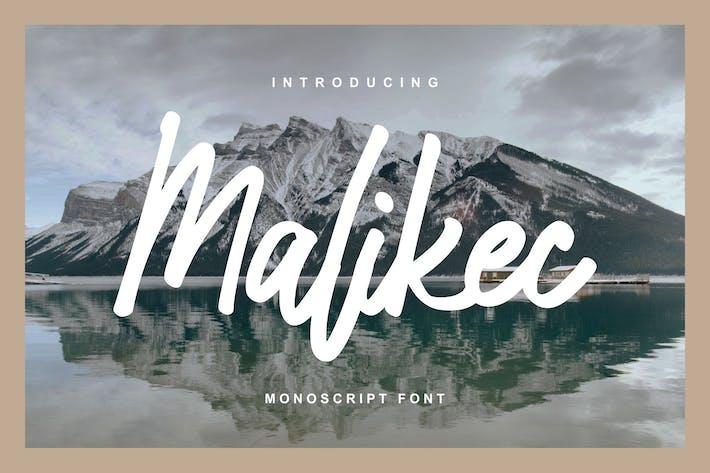Malikec | Mono Script Font