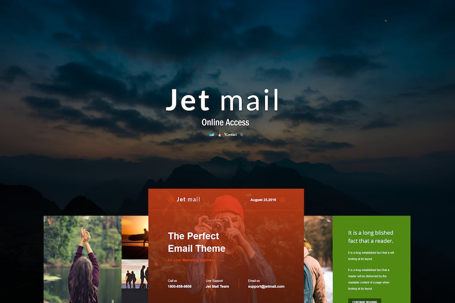 Jet mail - Responsive E-mail Template