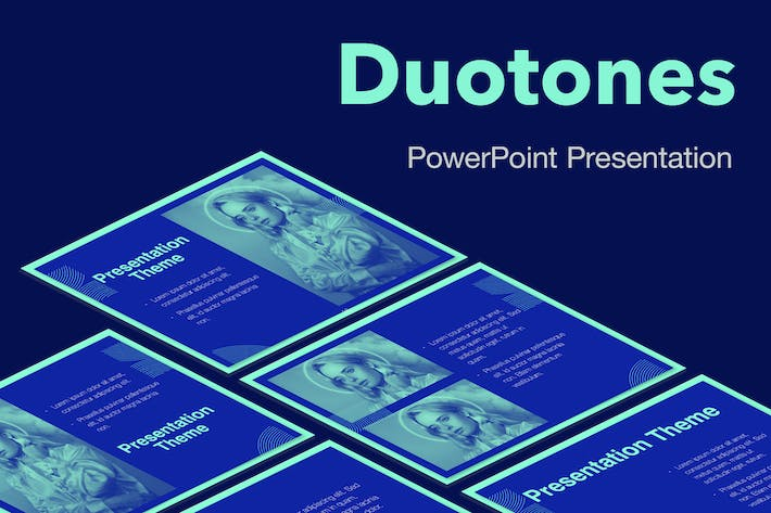 Thumbnail for Duotones PowerPoint Template