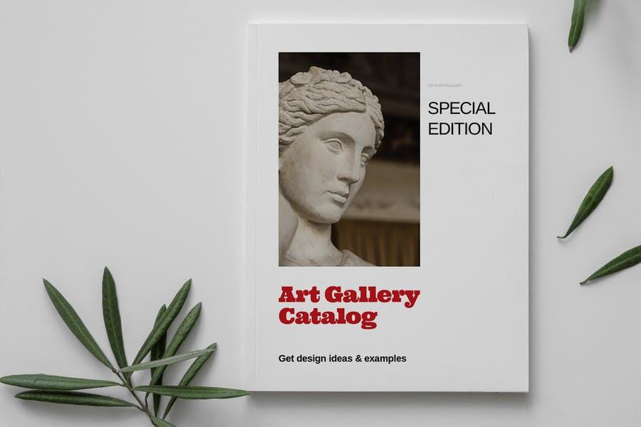 Art Gallery Catalog Layout Template