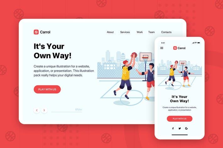 Thumbnail for Carrol - Banner & Landing Page
