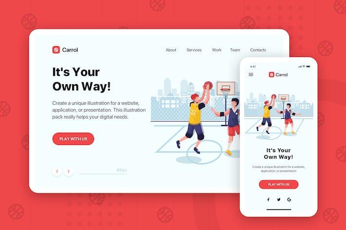 Carrol - Banner & Landing Page