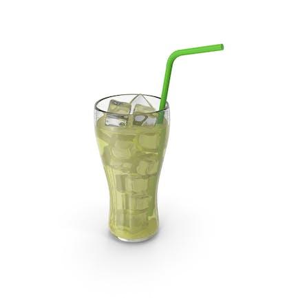 Limonade Glas Saft mit Tube