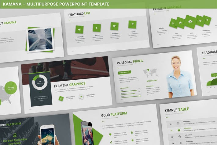 Thumbnail for Kamana Powerpoint Template