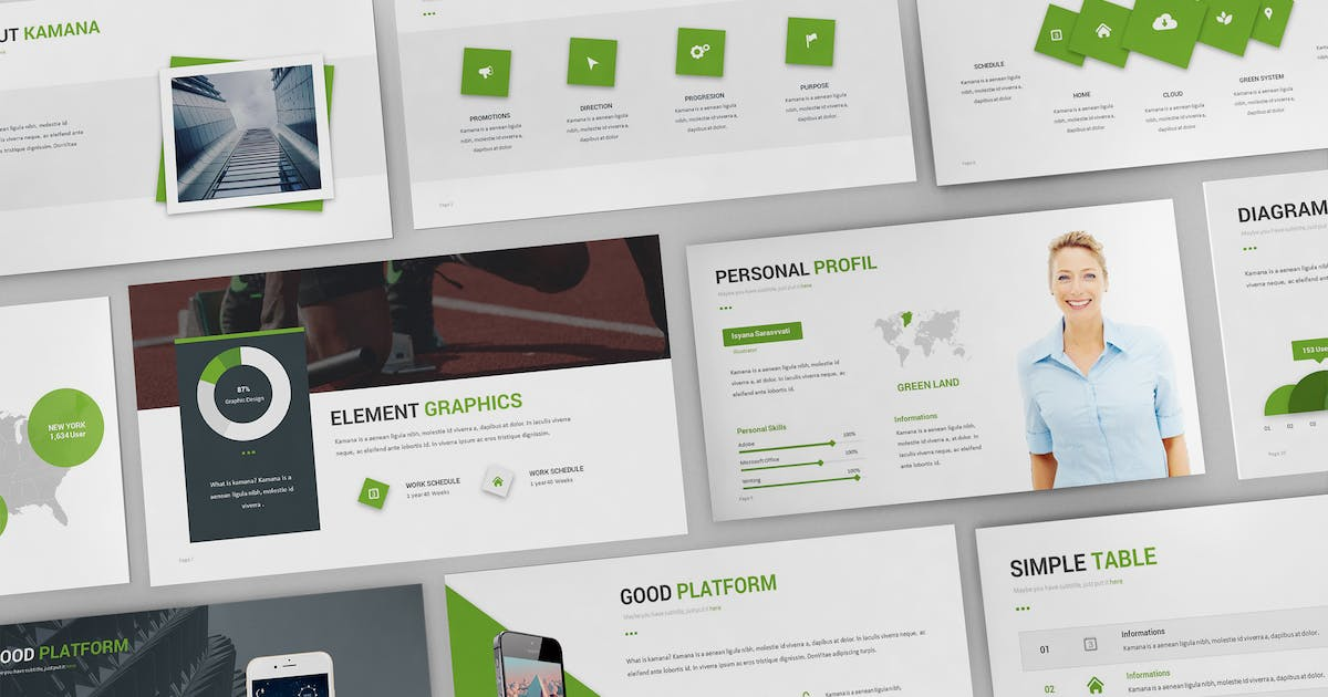 Download Kamana Powerpoint Template by Unknow