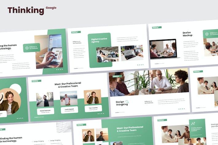 Thumbnail for Thinking - Digital Marketing Google Slides