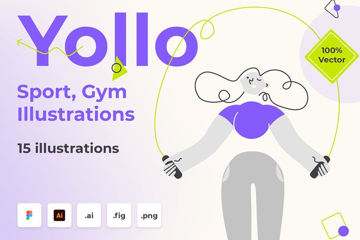 Thumbnail for Yollo - Sport, Gym Illustration