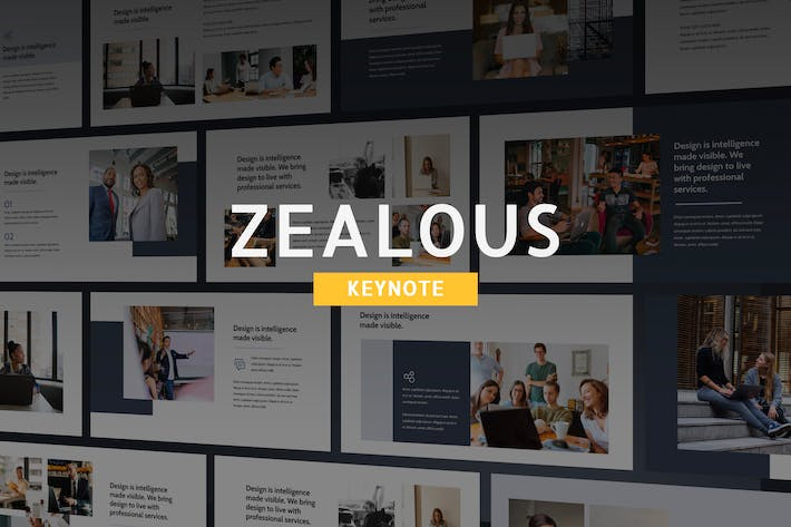Thumbnail for Zealous - Modern Keynote Template