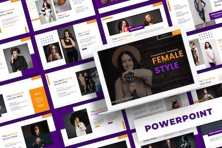 Женский стиль - шаблон Powerpoint