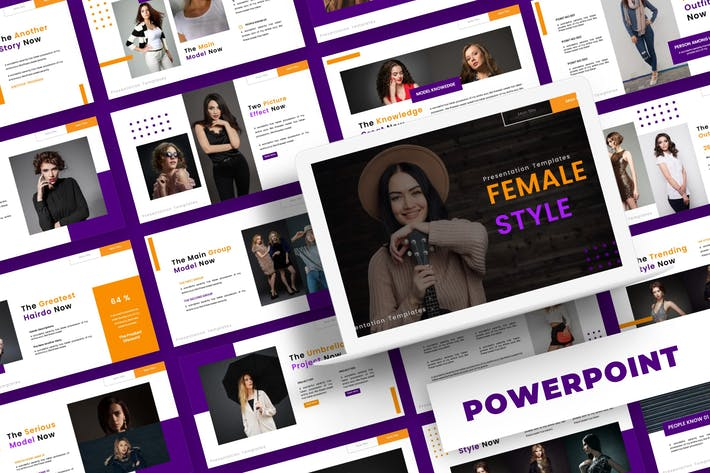 Thumbnail for Female Style - Powerpoint Template