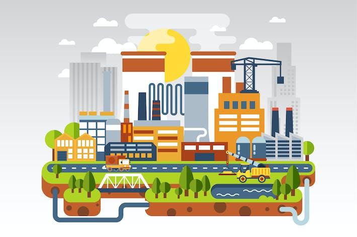 Thumbnail for Flat Industrial Landscape