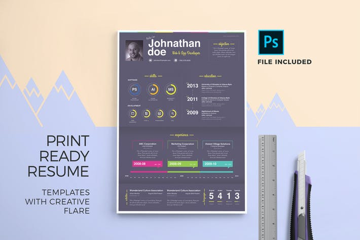 Thumbnail for Print Ready Resume Template & Cover Letter
