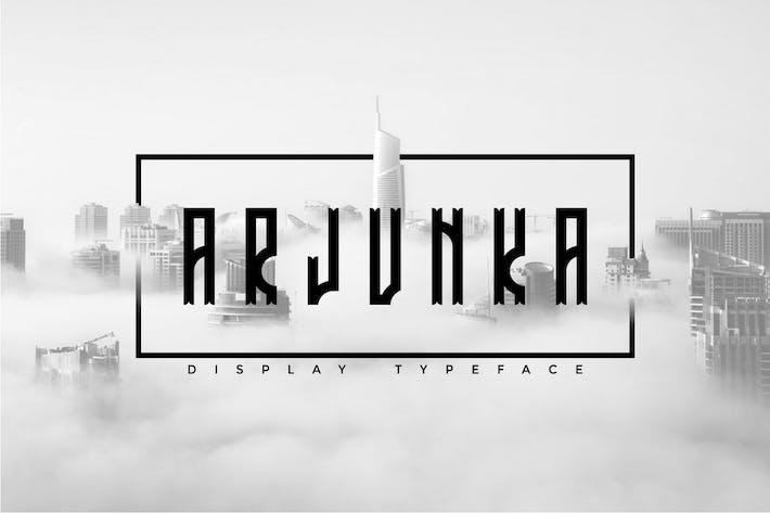 Thumbnail for Arjunka - Unique Display Font