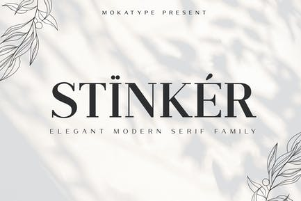 Familia de fuentes Stinker - Elegant Con serifa