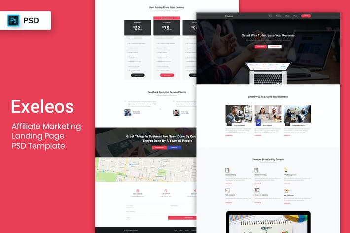 Thumbnail for Affiliate Marketing - Landing Page PSD Template
