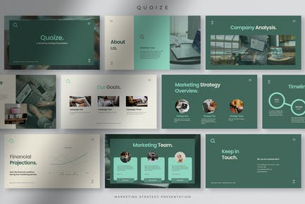 Quoize - Professional Company Presentation PPT