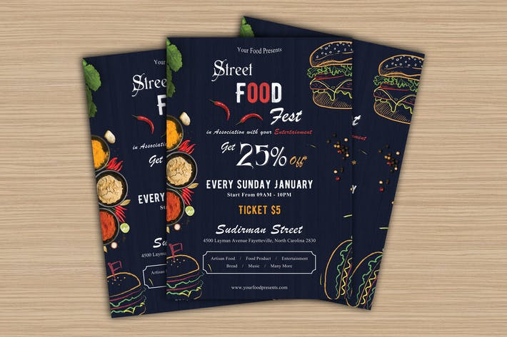 Thumbnail for Food Festival Flyer-02