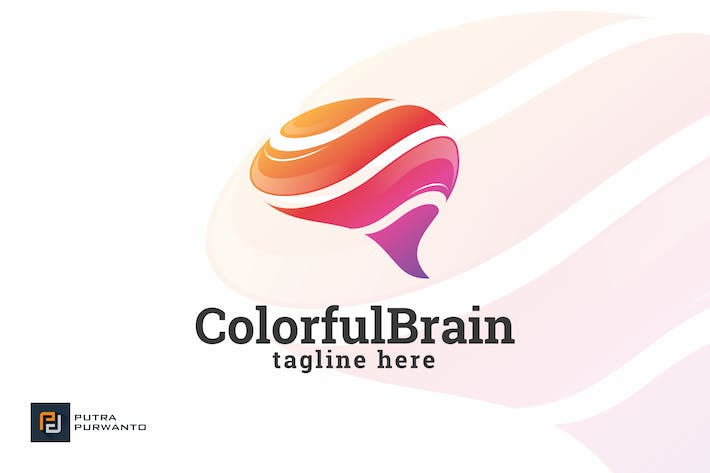Thumbnail for Colorful Brain - Logo Template