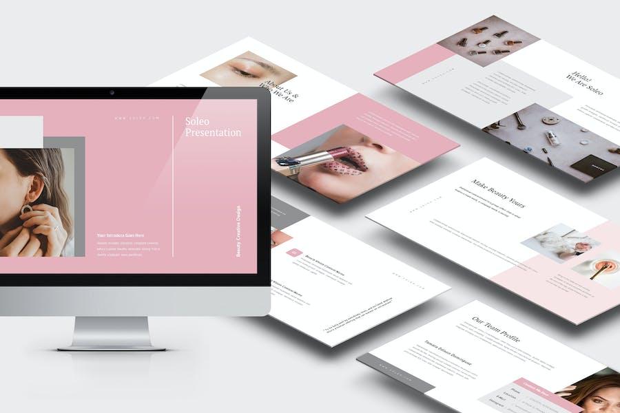 Soleo : Women Beauty Business Powerpoint