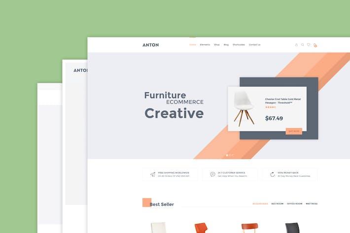 Anton - Möbel WooCommerce WordPress Thema