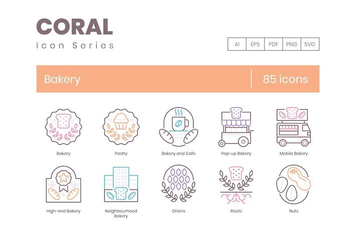 85 Пекарные Иконки - Коралловая серия