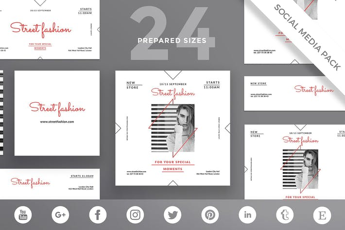 Thumbnail for Fashion Store Social Media Pack Template