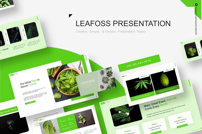 Thumbnail for Шаблон презентации Leafoss