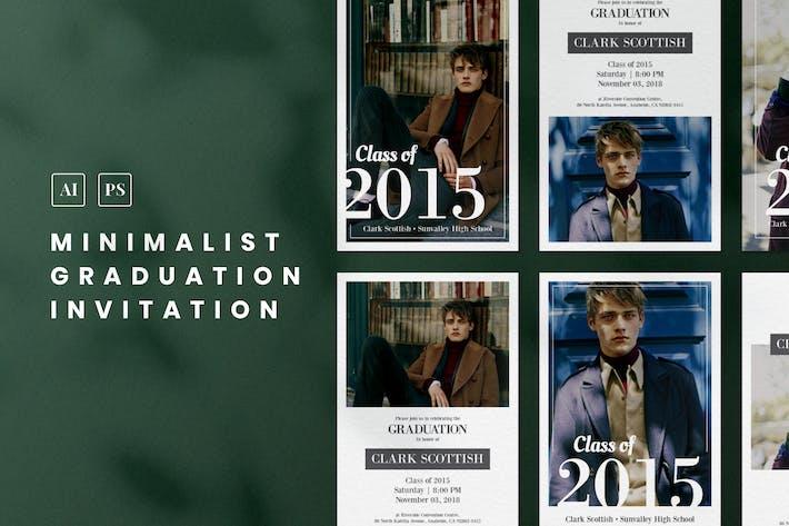 Thumbnail for Minimalist Graduation Invitation