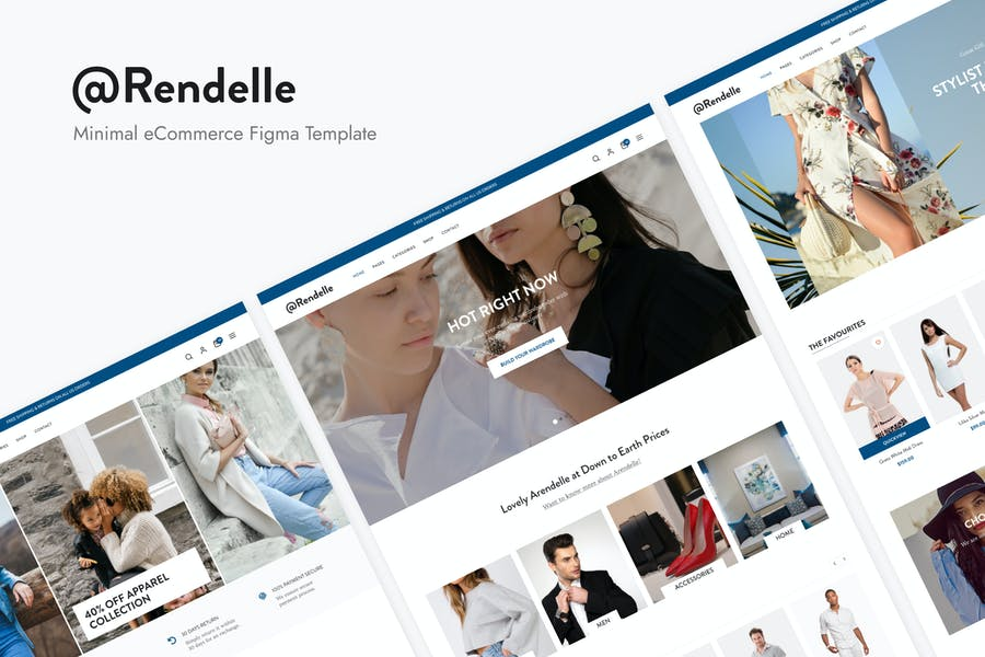 Arendelle | Modern eCommerce Figma Template