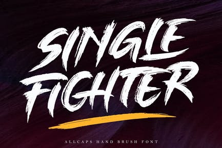 Single Fighter - Strong Brush Font