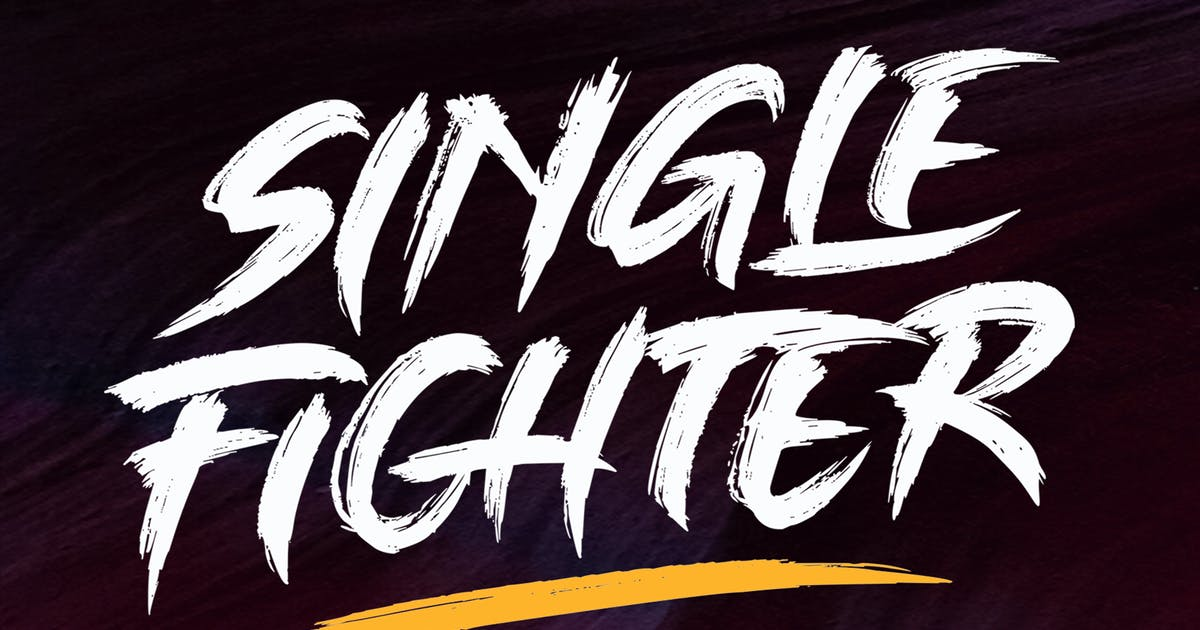 Download Single Fighter - Strong Brush Font by Subectype