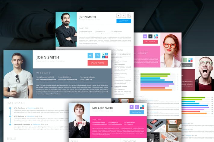 Thumbnail for Clean Onepage Resume PSD Template