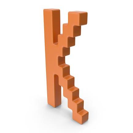 K  Letter Orange