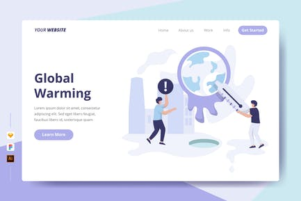 Global Warming - Landing Page