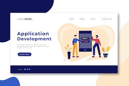 Page de destination Développement d'Appli