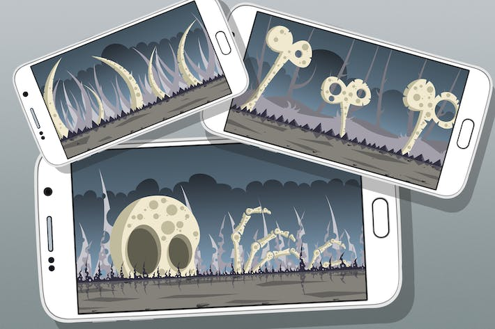 Thumbnail for 5 Bone Land Game Backgrounds